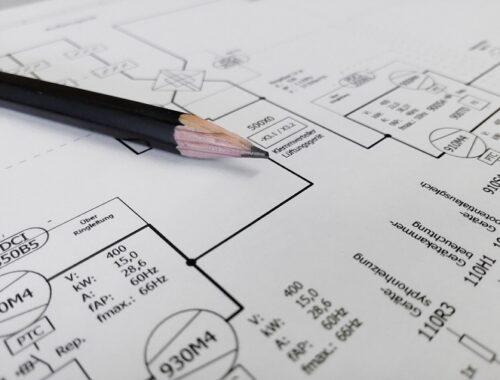 kartka i ołówek, projektowanie